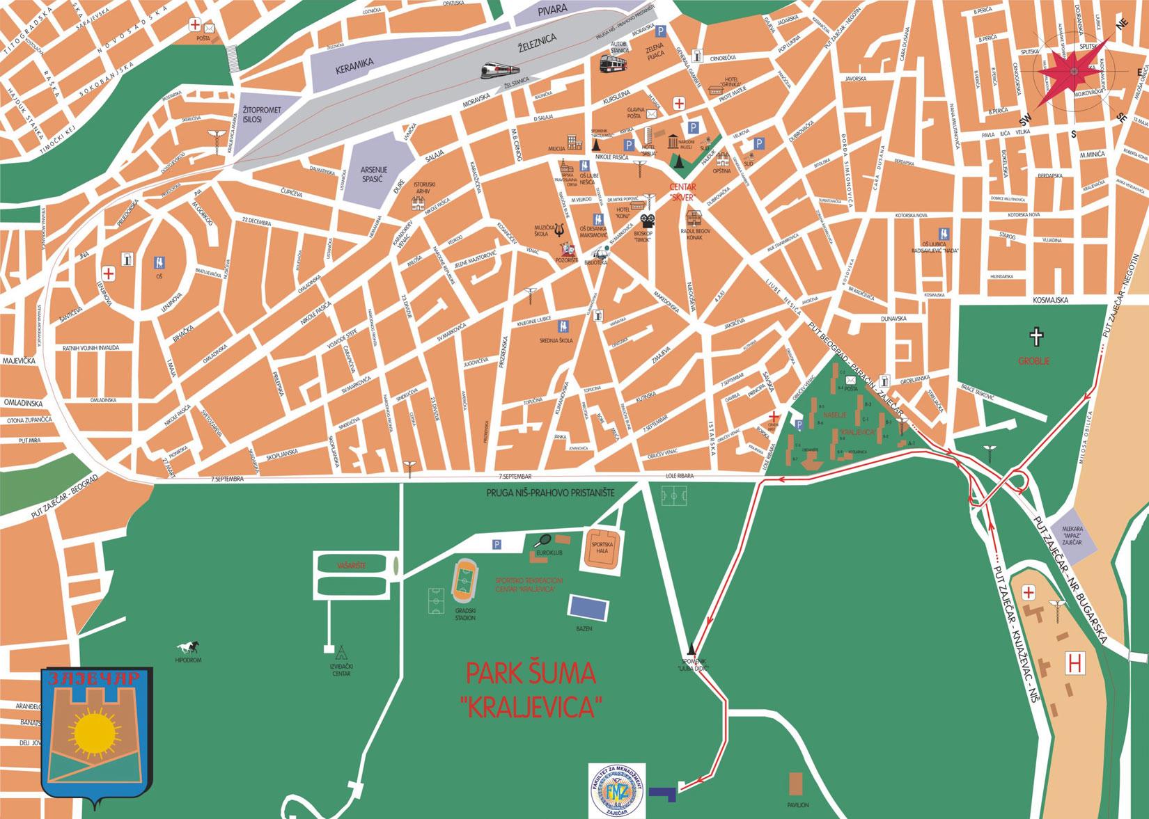zajecar mapa MEGATREND UNIVERZITET   Fakultet za menadžment   Zaječar zajecar mapa